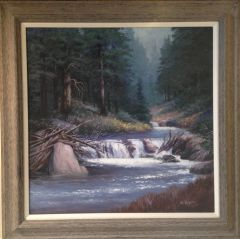 Quiet Moment on Cabin Creek 23x23