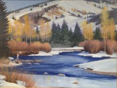 Winter on The Blue River 18x24