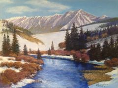 Spring Breaking on The Blue River 18x24