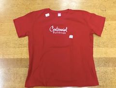 "Red Ladies Shirt - Printed With ""Centennial Bulldogs"""