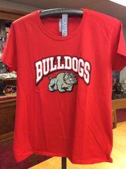 C - T-Shirt Short Sleeved 'Bulldogs' Design