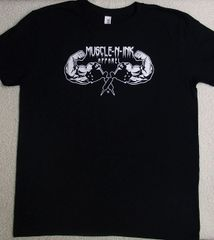 Mens Black T-shirt (front & back)