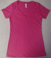 Womens Raspberry V-Neck (front only)