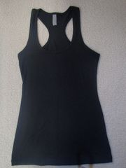 Womens Black Racerback Tank (front only)