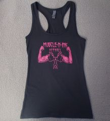 Womens Dark Grey Racerback Tank (front only)