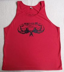 Mens Red Tank (front & Back)