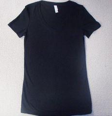 Womens Black V-Neck (front only)