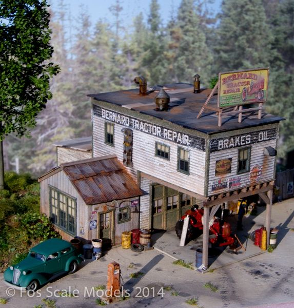 Bernard Tractor Supply Ho Scale Kit Fos Scale Models Llc