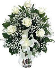 Valentine's 1/2 Dozen White Roses