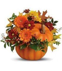 Pumpkin Ceramic Arrangement