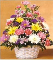 Pastel Basket Arrangement