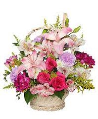Pink & Lavender Basket