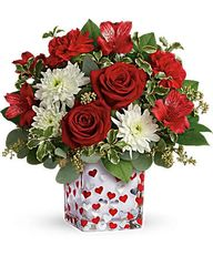 "Valentine's ""Hearts"" Vase"