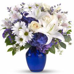 """Valentine's """"True Blue """" Vase"""