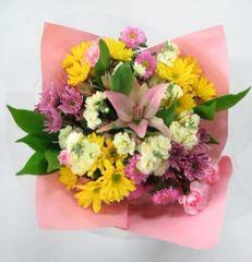 """Bunny Kisses"" Bouquet (Choose vase or basket)"