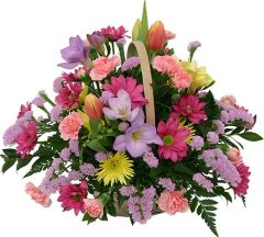Pastels Basket Arrangement (choose size/price)