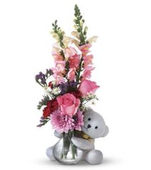 "Valentine's ""Bear Hugs"" Vase"