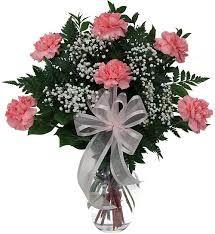 Pink Carnations (Half Dozen) in Vase