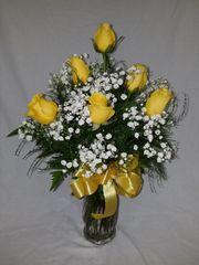 Valentine's 1/2 Dozen Yellow Roses
