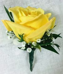 Yellow Rose Boutonierre: Pick up Only
