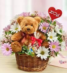 "Valentine's ""Daisy Bear "" Basket"