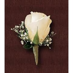 White Rose Boutonierre: Pick up Only