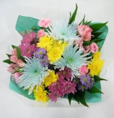 """Cottontail"" Bouquet (Choose vase or basket)"