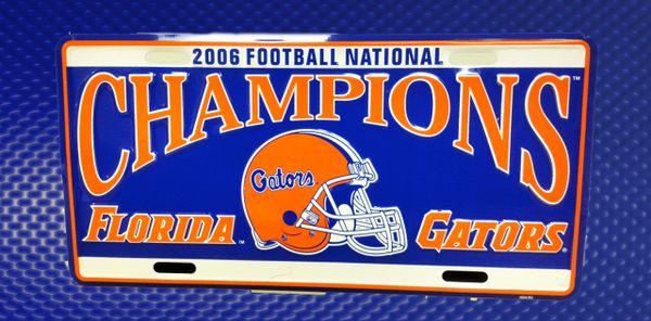 Gator Front License Plates - 06 Football Champions
