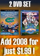 2009 and 2008 Florida Football Official Highlights DVDs