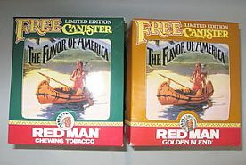 Redman Tobacco Tins with Box, circa 1992