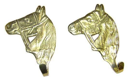 Gun Hanger- Brass Horse Head