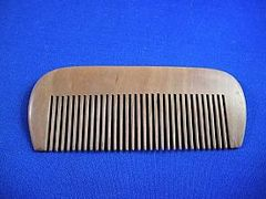 Toiletries: Natural Wooden Comb