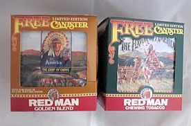 Redman Tobacco Tins with Box, circa1991