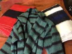 Capote - Hand Woven Wool Green and Black