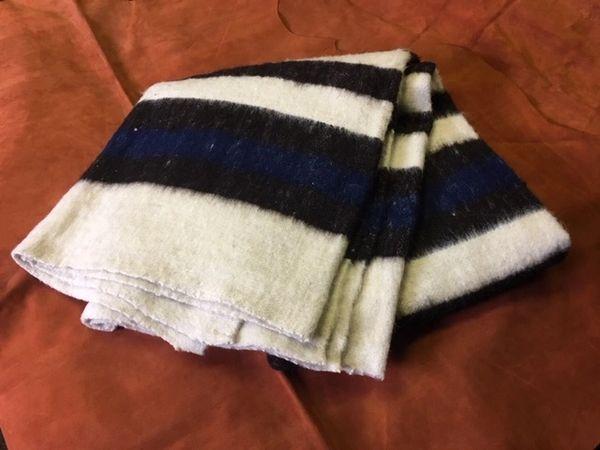 Blanket- Hand Woven, 100% Wool, White