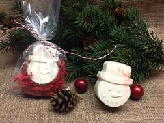 Peppermint Snowman Soap