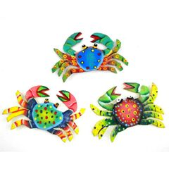 Crab Magnets Handcrafted From Recycled Oil Drum Steel
