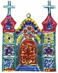Mexican Painted Tin Church Ornament