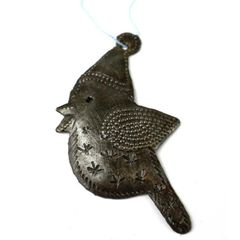 Robin Ornament Crafted From Recycled Oil Drum Steel