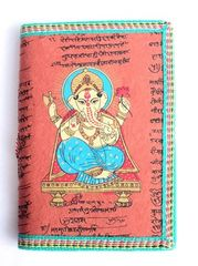 Cotton-Covered Journal With Ganesh - Terracotta