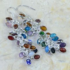 Multi-Gemstone Earrings That Swing!