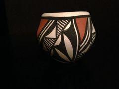 Small Handcrafted Acoma Pueblo Olla