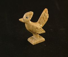 Carved Soapstone Roadrunner