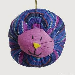 Fabric Fat Cat Ornament