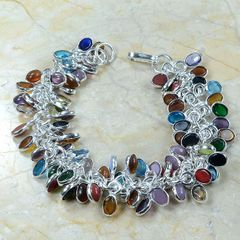 "Semi-Precious Gemstone ""Chip"" Bracelet"