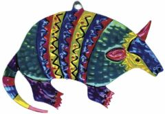 Mexican Painted Tin Armadillo Ornament