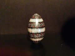 "Mata Ortiz ""Egg"" Seed Pot in Geometric Design"