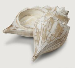 Hand-Carved, Lidded Box in Shape of a Shell