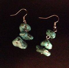 Turquoise Nugget Drop Earrings