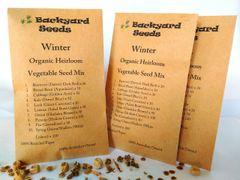 Winter Organic Heirloom Vegetable Seed Mix